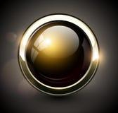 典雅的发光的按钮 库存图片