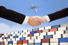 Международная принципиальная схема торговлей и перевозкой дела Стоковые Изображения