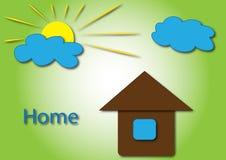 与家庭徽标的太阳 免版税库存照片