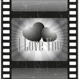 在电影的爱 免版税库存图片