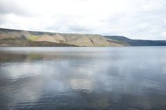 冰岛湖 库存照片