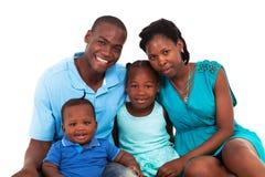 Семья афроамериканца Стоковая Фотография