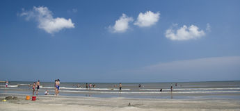 海滩重新创建 免版税图库摄影