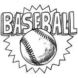 棒球草图 免版税库存图片