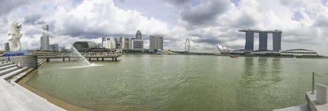 Πανόραμα εικονικής παράστασης πόλης της Σιγκαπούρης Στοκ Φωτογραφία