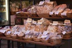 意大利食物立场 图库摄影