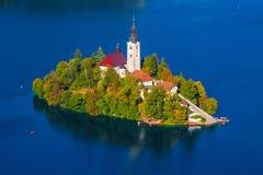 流血的湖,斯洛文尼亚 免版税图库摄影