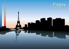 Ορίζοντας του Παρισιού Στοκ Εικόνες