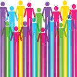 五颜六色的人图标背景 免版税库存图片