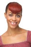 一个逗人喜爱的非裔美国人的女孩的纵向 库存图片
