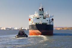 发运小船在纽约 库存图片