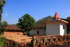 美好的印第安村庄结构 库存图片