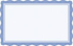 Μπλε πρότυπο πιστοποιητικών Στοκ Φωτογραφίες