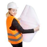 工程师妇女 免版税图库摄影