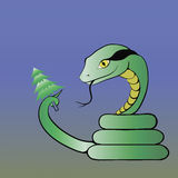 蛇 库存例证
