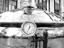 温度测量仪。 免版税库存照片