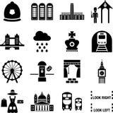 Εικονίδια του Λονδίνου Στοκ Φωτογραφίες