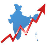 Αύξηση της Ινδίας Στοκ εικόνες με δικαίωμα ελεύθερης χρήσης