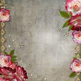 与玫瑰的难看的东西抽象背景 库存照片
