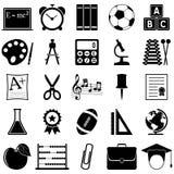 Εικονίδια σχολείου και εκπαίδευσης Στοκ Εικόνα