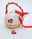 Μπισκότα μελοψωμάτων καρδιά-που διαμορφώνονται Στοκ Φωτογραφία