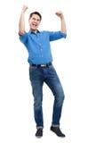 兴奋年轻人 免版税图库摄影
