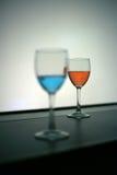 Красное и голубое питье водочки Стоковая Фотография