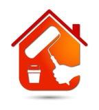 绘画房子,业务设计 免版税库存图片