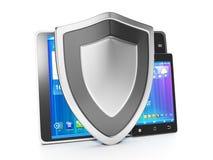 Προστασία των κινητών συσκευών από Στοκ Φωτογραφίες
