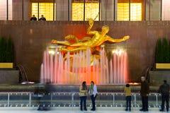 纽约-洛克菲勒中心 库存照片