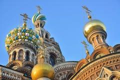圣彼德堡,俄国,在血液的温泉 免版税库存图片