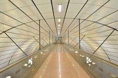 从汉堡国际机场的火车站在德国 免版税库存照片