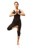 实际瑜伽讲师 免版税库存图片