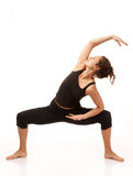 Практикуя йога Стоковая Фотография