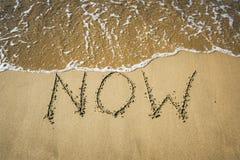 在沙子的词 免版税库存照片