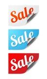 Αυτοκόλλητες ετικέττες πώλησης Στοκ φωτογραφία με δικαίωμα ελεύθερης χρήσης