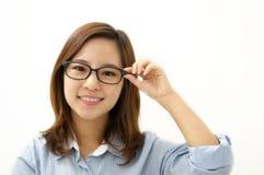 一名新女实业家的纵向 免版税库存照片