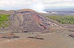 夏威夷火山的飞溅声锥体 库存照片