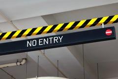 Отсутствие знака входа Стоковая Фотография RF