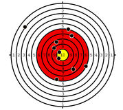 Στόχος πυροβολισμού Στοκ φωτογραφία με δικαίωμα ελεύθερης χρήσης
