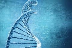 脱氧核糖核酸的数字式例证 库存照片