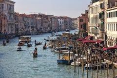 Грандиозный канал в Венеции Стоковое Фото