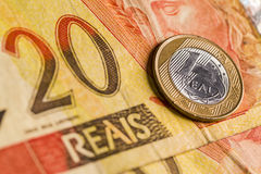 巴西实际 免版税库存照片