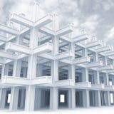 τρισδιάστατη αφηρημένη μονοχρωματική ανασκόπηση αρχιτεκτονικής Στοκ φωτογραφίες με δικαίωμα ελεύθερης χρήσης