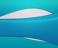 蓝色挥动简单的背景 免版税库存照片