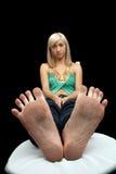 Милые, пакостные ноги Стоковые Фото