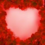 Абстрактное красное сердце, принципиальная схема влюбленности Стоковая Фотография