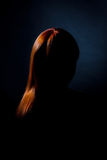 Μυστική γυναίκα Στοκ εικόνα με δικαίωμα ελεύθερης χρήσης