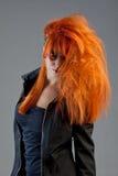 红头发人设计摆在 免版税库存图片