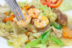 Κινεζικά τρόφιμα που ονομάζονται την ΚΑΠ-κοραλλιογενή νήσο Στοκ Φωτογραφίες